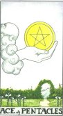 ace of pentacles tarot card - free online reading
