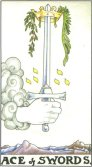 ace of swords tarot card - free online reading