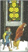 five of pentacles tarot card - free online reading