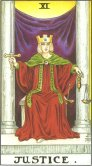 justice tarot card - free online reading