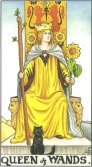 queen of wands tarot card - free online reading