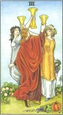 three of cups tarot card - free online reading