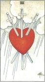 three of swords tarot card - free online reading