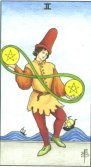 two of pentacles tarot card - free online reading