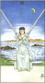 two of swords tarot card - free online reading